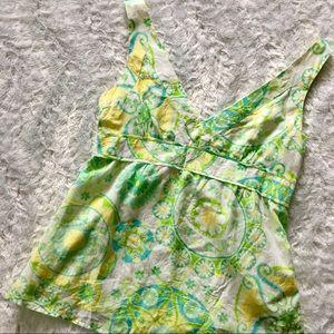 lilly pulitzer / v neck floral blouse